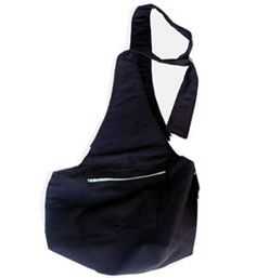 Dog Sling Spoiled Pooch Black or Brown With Aqua Interior
