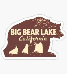 Big Bear Lake California Vintage Travel Decal Sticker