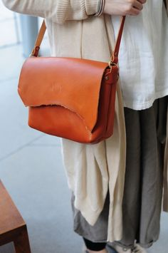 Hand Stitched Light Brown Leather Shoulder by ArtemisLeatherware, $148.00