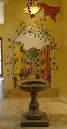 Di's Indoor Tuscan Mural Painted for a friend.