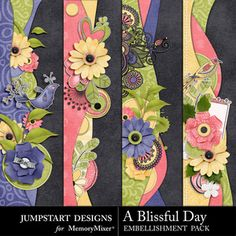 A Blissful Day Borders Scrapbook Page Design Scrapbook Borders, Scrapbook Titles, Scrapbook Embellishments, Scrapbook Page Layouts, Scrapbook Paper Crafts, Scrapbook Supplies, Paper Crafting, Page Borders Design, Borders For Paper
