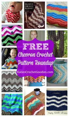 Free Chevron Crochet Pattern Roundup @ www.KatiesCrochetGoodies.com