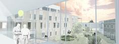 Architectural rendering + Backyard visualization // Illustrator + Photoshop // Arkitektkontoret Brekke Helgeland Brekke AS