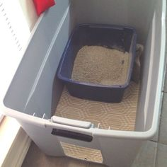 Cats Toys Ideas - Oh, litter box problems! I hope this works! - Ideal toys for small cats Hiding Cat Litter Box, Litter Box Smell, Liter Box, Cat Liter, Cat Hacks, Ideal Toys, Cat Room, Small Cat, Cat Furniture