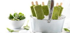 Don't let breakfast bore you! Get creative and turn your healthy, morning smoothie into these raw vegan, green smoothie pops.