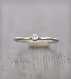 Moissanite and Sterling Silver Stacking Ring | Jewelry Rings | Porter Gulch | Scoutmob Shoppe | Product Detail