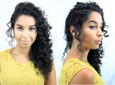 penteados cabelo cacheado - Pesquisa Google