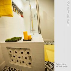 Bathtub niche for toilet paper