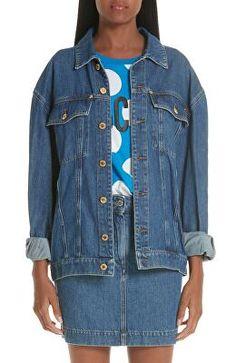7f024cb80a9 PAIGE Designer Josephine Sequin Rose Denim Jacket