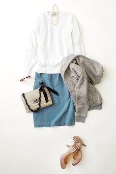 ルミネ横浜のアイテムで「新しい出会いに効く! ラッキーコーディネート」のレッスン。白とブルーでつくるクリーンなスカートスタイルで、洗練された女性に! 人気スタイリスト三好彩さんが無限に広がるコーディネートの楽しさをお伝えしつつ、「今日着たくなる服」を提案します!