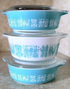 Vintage Pyrex Turquoise Amish Butterprint by BitchTitsVintage, $38.00