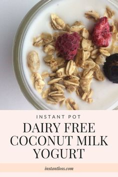 We struggle with dairy intolerance in our family. It plagues the kidsand I.In order to save everyone stomach pain I developed this Instant Pot Dairy Free Coconut Milk yogurt recipe its only four ingredients and its darn delicious. {this post may co Coconut Milk Yogurt, Dairy Free Yogurt, Siggis Yogurt, Frozen Yogurt, Yogurt Muffins, Yogurt Popsicles, Yogurt Smoothies, Yogurt Parfait, Coconut Oil