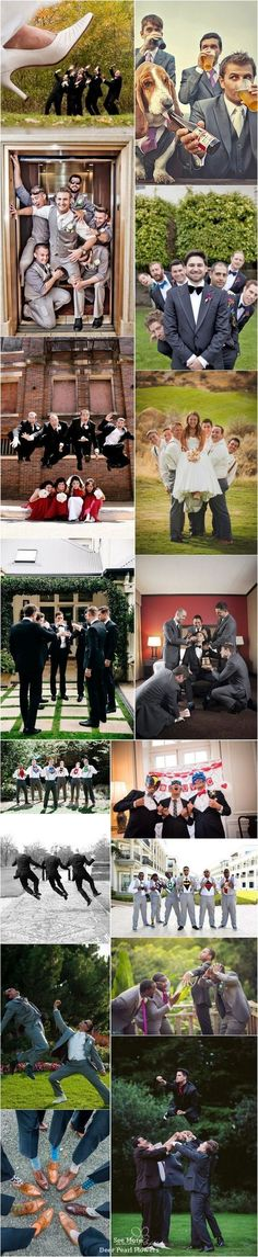 funny groomsmen wedding photo ideas / http://www.deerpearlflowers.com/fun-groomsmen-photo-ideas-and-poses/ #weddingphotography