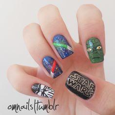 Star Wars nail art.