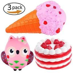 Sincere 10s-15s Cream Cake Mango Rosy Kids New Year Toy Gift Anti Stress Phone Strap Kawaii Strawberry Cake Squishy Slow Rising Mobile Phone Accessories
