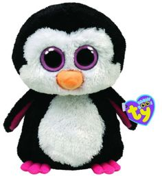 Amazon.com: Ty Beanie Boos Buddies Paddles The Penguin Pink: Toys & Games