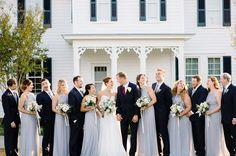Alyssa, Sam and their bridal party