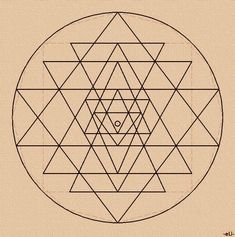 The symbol known as the Sri Yantra is an ancient Hindu symbol comprised of nine triangles that are interlaced in such a way as to form 43 smaller triangles in a web said to be symbolic of the entire cosmos. The 64 tetrahedron grid is also the foundational seed geometry of the fabric of the vacuum according to Nassim Haramein's Unified Field Theory. Everything is connected by the structure of space.: