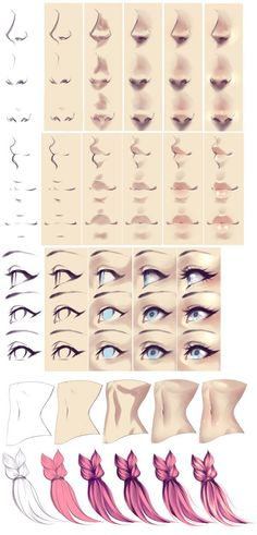 How I Paint - Several Things by rika-dono on DeviantArt Nose Nez Bouche Yeux Ventre Corps Hair Cheveux Couleur