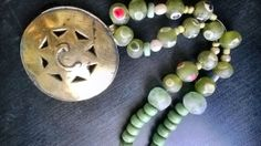 Gorgeous and rare- Ancient evil eye glass beads reproductions and authentic vintage Kuchi element mix