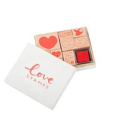#valentines Wooden Stamp Set