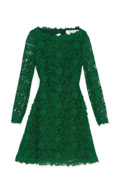 Valentino Emerald Backless Lace Dress