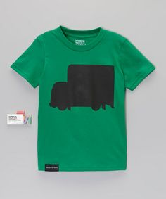 This Kelly Green Box Truck Chalkboard Tee - Toddler & Kids is perfect! #zulilyfinds
