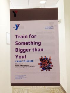 Train for Something Bigger than You: Spotted at the Y #YMCA #Iowa