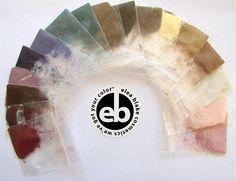 Rainbow of Soft Summer eye shadows from Elea Blake.