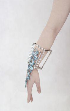Jizhi Li Bracelet: Arm Adornment, 2015 Fine Silver, enamel, silver plate, copper, brass