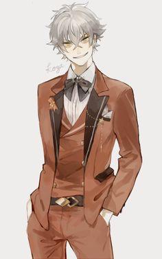 Cute Anime Boy, Anime Guys, Boys Black Suit, Anime Girl Hairstyles, Black Wings, Boys Suits, Ensemble Stars, Anime Sketch, Dark Fantasy Art