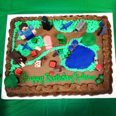 Minecraft Themed Cake | jpg