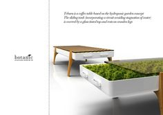 Botanic Hydroponic Furniture by Clement SARRODIE, via Behance