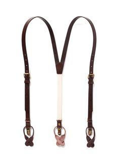 Chestnut Java - Brown Leather Suspenders
