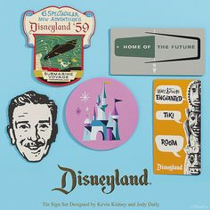 Vintage Disneyland Graphics Tin Signs by Miehana, via Flickr
