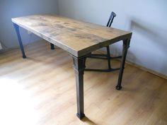 stół industrialny żeliwne nogi