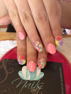 # acrylic nails # nails art #summer nails