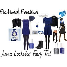 """Juvia Lockster, Fairy Tail"" by fictional-fashion on Polyvore"