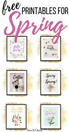 home accents on a budget Spring Farmhouse Home Decor Accents On a Budget + Free Printables. I love finding decor accents that are easy to switch out during each season. This doesnt have to be an expensive endeavor. Diy Home Decor Bedroom, Diy Home Decor Projects, Free Printable Art, Free Printables, Diy On A Budget, Decorating On A Budget, Diy Artwork, Spring Home Decor, Spring Decorations