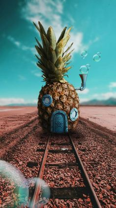 SpongeBob's house 🧽 ❤️ Wallpaper Spongebob, Disney Phone Wallpaper, Cartoon Wallpaper Iphone, Iphone Background Wallpaper, Cute Cartoon Wallpapers, Galaxy Wallpaper, Pineapple Wallpaper Tumblr, Wallpaper Samsung, Natur Wallpaper