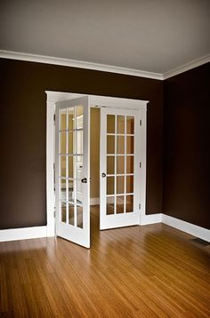 Interior Glazed Door - January 16 2019 at Craftsman Interior, French Interior, Interior Trim, Craftsman Trim, Interior Glazed Doors, Black Interior Doors, French Provincial Kitchen, New Home Wishes, Double French Doors