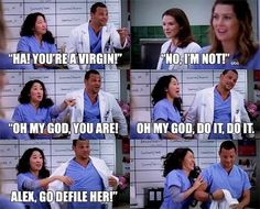 Favorite Alex and Cristina moment. Grey's Anatomy.