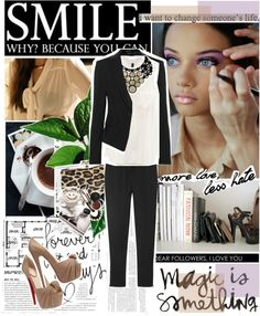"""""""Take a chance. Make a change . Because you can ."""" by iloveyoudd ❤ liked on Polyvore"""