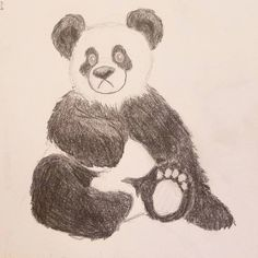 I am a sad panda today because my order of art supplies is going to be a day late.  #art #artist #artwork #creative #drawing #illustration #myart #paint #sketch #instaart #sketchaday #sketchbook #pencil