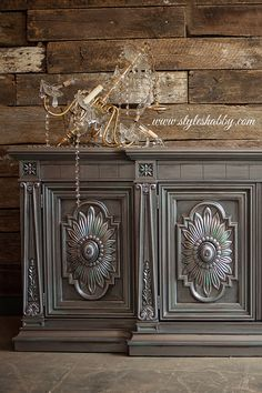 metal furniture Gorgeous Metallic Furniture Project by Style Shabby with Pewter, Black Pearl and Platinum Metallic Paint by Modern Masters Metallic Painted Furniture, Chalk Paint Furniture, Metal Furniture, Shabby Chic Furniture, Furniture Projects, Furniture Makeover, Silver Furniture, Luxury Furniture, Office Furniture