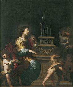Pietro RICCHI (Lucques, 1605 - Udine, 1675), Sainte Cécile, vers 1660, Huile sur toile, Inv. 2004 1 296 (Ro  308). Exposée. Église. © Toulouse, musée des Augustins – Photo Daniel Martin