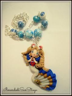 Necklace Sailon Moon mermaid by me 100% handmade by IlmondodiSaxStrega.deviantart.com on @deviantART