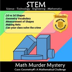 This murder mystery will engage students by taking them on a journey to solve geometry puzzles and questions to solve a murder. Students will need to gather evidence by completing charts, Interview witnesses by sorting through geometry shapes and compare data to narrow the suspects. Finally they will narrow it down to two suspects, with a final hundred chart puzzle to uncover the truth.    Who is the Geometry Math Mystery Murderer!!!