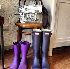 Per tutti i tipi di pioggia. Hunter boots, Le Grenier De Vivi