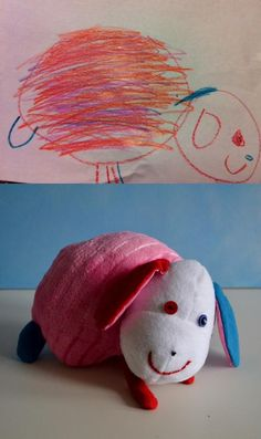 Child's Own. This site creates a lovey based on a child's drawing. So cute!!